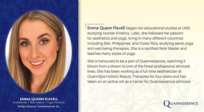 Emma Quann Flavell, Aesthetician / Reiki Master / Yoga Instructor