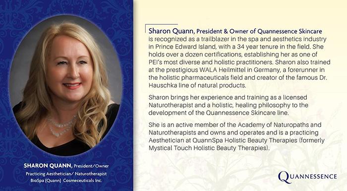 Sharon Quann, President & Owner of Quannessence Skincare